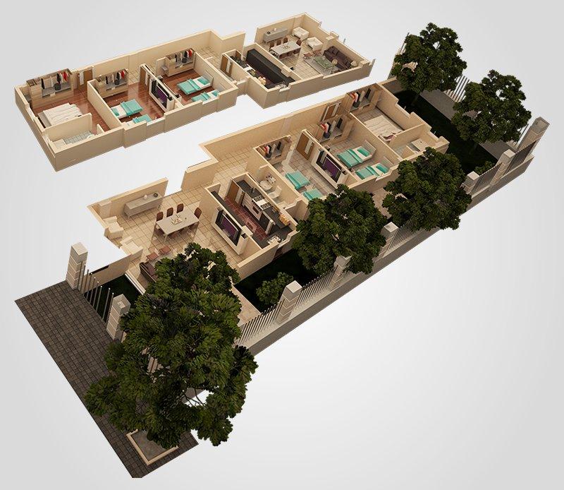 Duplex 1 3d